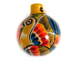 Hand painted Ceramic Ornament from Mexico